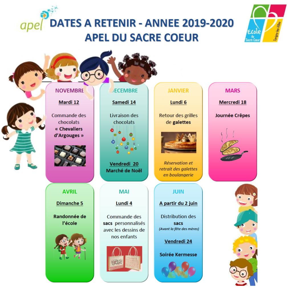 Dates à retenir 2019-2020